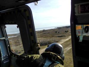 Esercitazione dall'elicottero all'APT di rimini