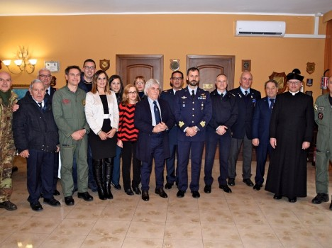 All'Aeroporto dell'Aeronautica Militare di Sigonella visita conoscitiva e a scopo benefico della Comunità di Scordia (CT)