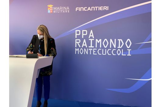 MINISTERO DELLA DIFESA – Sottosegretario Pucciarelli, varo nave Montecuccoli importante per la Marina Militare e per l'intero Sistema-Paese.