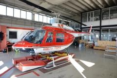 La base del reparto volo dei Vigili del Fuoco Piemonte